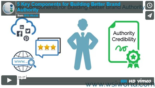 Screenshot of 5 Key Components For Building Better Brand Authority video.