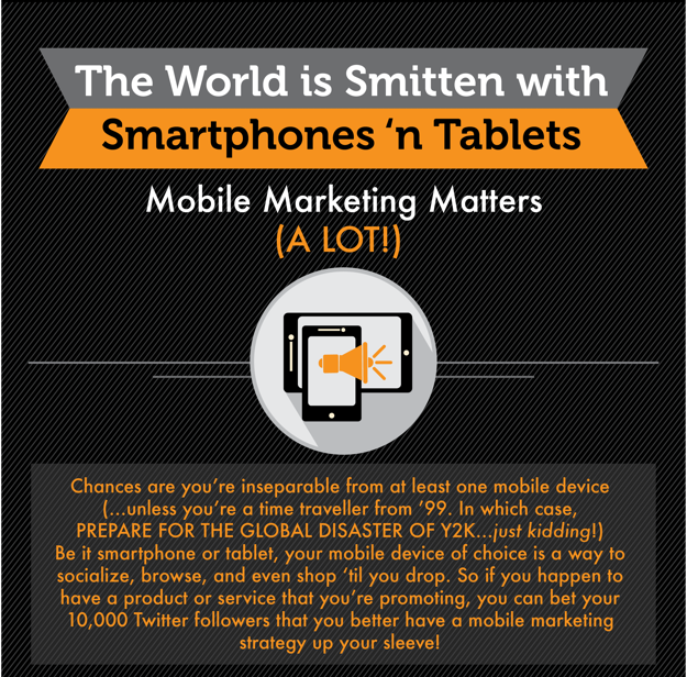 Screenshot of The World is Smitten with Smartphones and Tablets infographic.