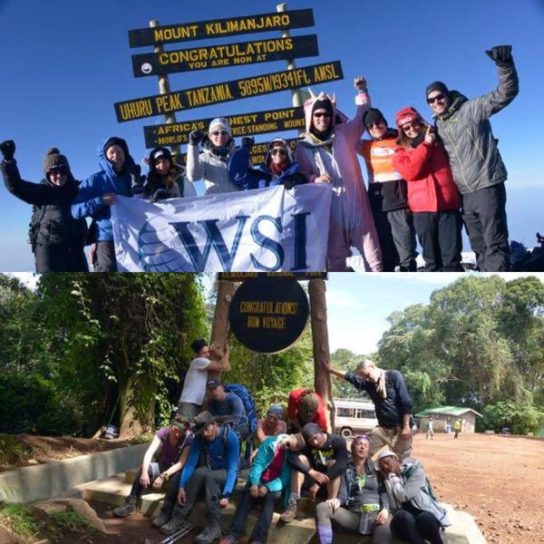 WSI Climbs to the Top of Mt. Kilimanjaro to Help Defeat Child Slavery